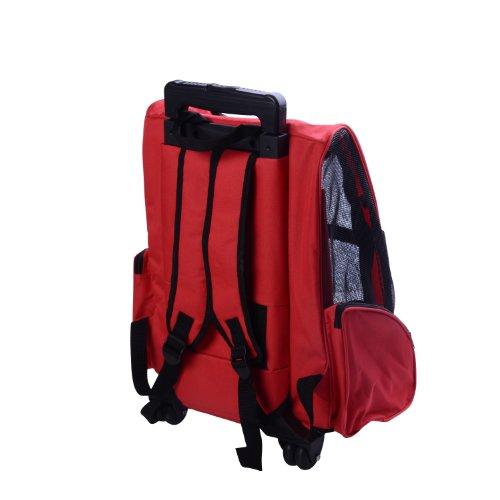 2 en 1 trolley chariot sac a dos sac de transport a roulettes pour chien chat neuf 12 bagages. Black Bedroom Furniture Sets. Home Design Ideas