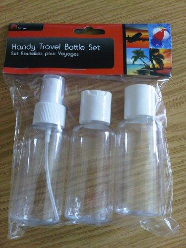 3 pi ces voyage bouteille set 100ml liquide bagage main. Black Bedroom Furniture Sets. Home Design Ideas