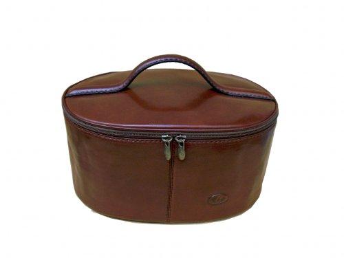 vanity en cuir de vachette coloris caramel bagages