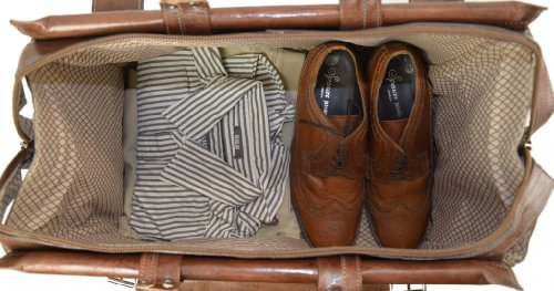 "4931dc763505 Gusti Cuir nature ""Mason"" sac de voyage bagage à main bagage cabine ..."