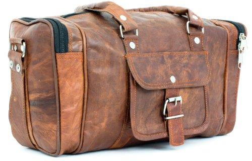 gusti cuir valise en cuir bagage main bagage cabine sac de sport sac de voyage port paule ou. Black Bedroom Furniture Sets. Home Design Ideas