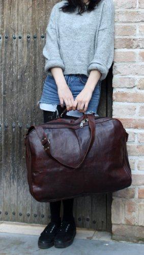 gusti sac de voyage bagage main valise cuir vritable sac. Black Bedroom Furniture Sets. Home Design Ideas