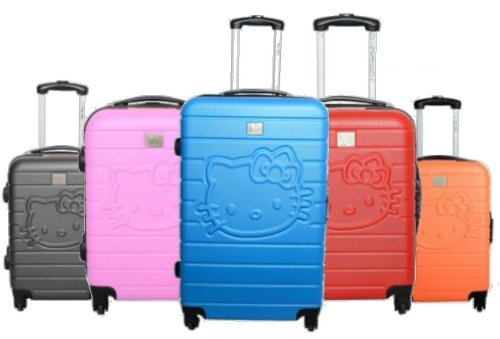 hello kitty valise rigide taille cabine 4r rose 48cm bagages. Black Bedroom Furniture Sets. Home Design Ideas