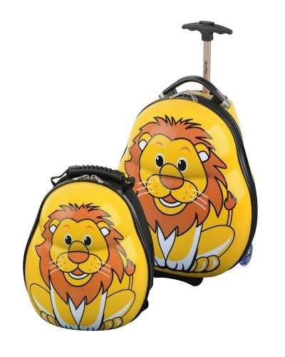 skyflite set bagage skykidz valise roulettes et sac dos pour enfant lion bagages. Black Bedroom Furniture Sets. Home Design Ideas