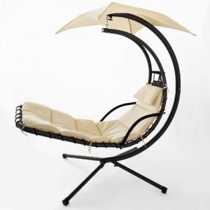 sobuy ogs16 bain de soleil hamac transat suspendu lit suspendu fauteuil balancelle de jardin et. Black Bedroom Furniture Sets. Home Design Ideas