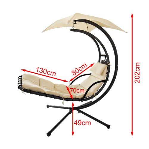 sobuy ogs16 bain de soleil hamac transat suspendu lit. Black Bedroom Furniture Sets. Home Design Ideas