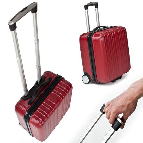tectake business pilot case trolley valise mallette de pilote sac roulettes avec poign e. Black Bedroom Furniture Sets. Home Design Ideas