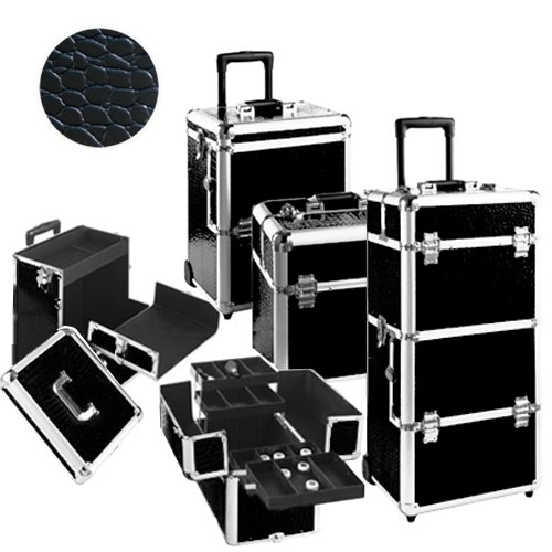 valise trolley xxl coiffure et esth tique croco noir bagages. Black Bedroom Furniture Sets. Home Design Ideas
