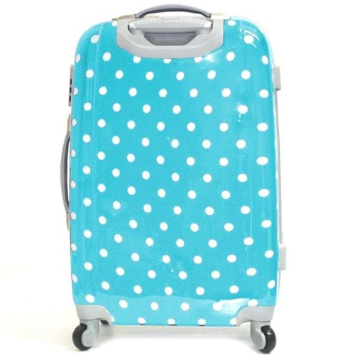bagages madisson valise a pois trolley 4 roues rigide 60cm bleu bagages. Black Bedroom Furniture Sets. Home Design Ideas