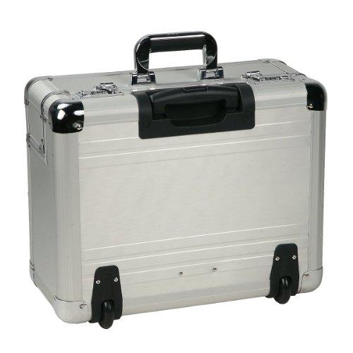 dermata mallette de pilote roulettes en aluminium argent 46 cm bagages. Black Bedroom Furniture Sets. Home Design Ideas