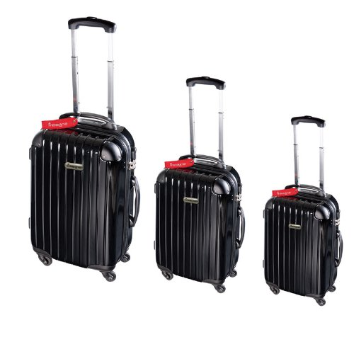 domoclip set de bagages avec p se valise int gr 1 pi ce noir noir se199n bagages. Black Bedroom Furniture Sets. Home Design Ideas