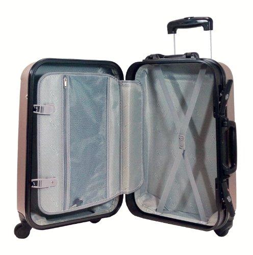 ensemble set de 2 valises utopia robuste bagages grande petite dont une cabine coque rigide. Black Bedroom Furniture Sets. Home Design Ideas