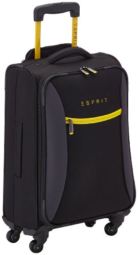 esprit valise hotspot 60 cm 32 litres noir jaune bagages. Black Bedroom Furniture Sets. Home Design Ideas