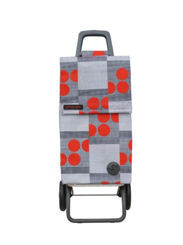 rolser rg paris cabas roulettes avec logo rouge rouge 40. Black Bedroom Furniture Sets. Home Design Ideas