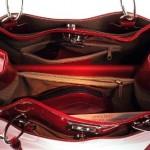 b65f7ad76b Olivia – Sac à main femme Cuir vernis Fabriqué En Italie N1104 Rouge ...