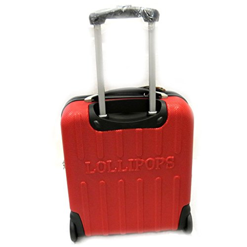lollipops l5496 valise trolley abs lollipops rouge 51 cm bagages. Black Bedroom Furniture Sets. Home Design Ideas