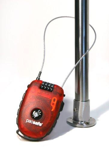 PacSafe Sac de Voyage Retractasafe 250 Cadenas à Câble Rétractable, 5 L, 10 cm, (Argent)