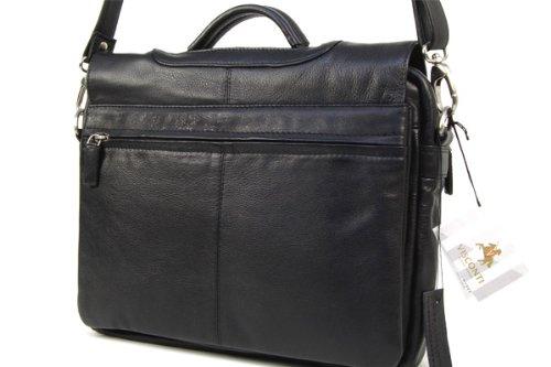 visconti sac gibeci re serviette pour le bureau en cuir souple noir 659 bagages. Black Bedroom Furniture Sets. Home Design Ideas