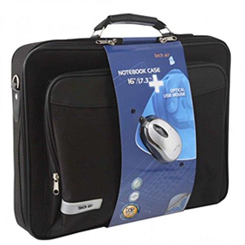 techair z0103 malette pour pc portable 17 et souris noir bagages. Black Bedroom Furniture Sets. Home Design Ideas